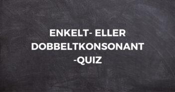ENKELT- ELLER DOBBELTKONSONANT-QUIZ # 1 8